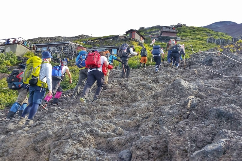 How much does it cost to climb Mount Fuji? Yoshida trail hike. Backpacking Japan.