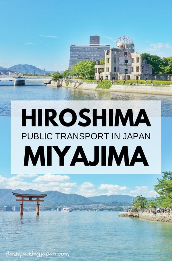 Hiroshima to Miyajima ferry: Public transportation in Japan. With JR pass. Backpacking Japan itinerary.