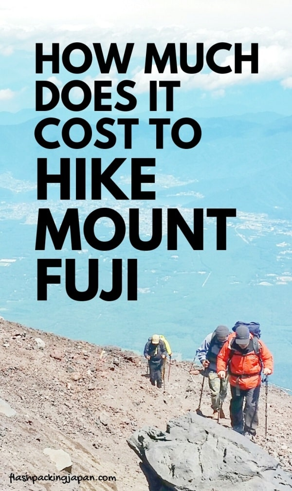 How much does it cost to climb Mount Fuji from Tokyo alone solo without tour? Mt Fuji hiking trails. Best hikes in Japan. Backpacking Japan.