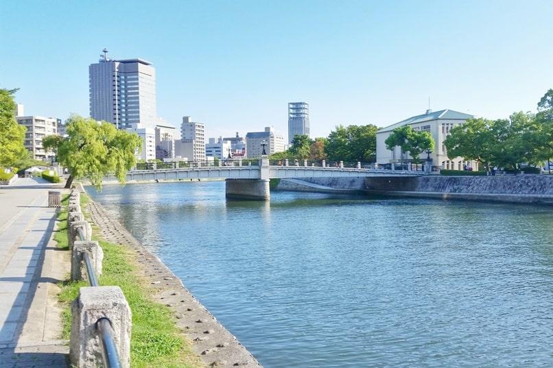 Visit Hiroshima Peace Memorial Park. Hiroshima today at peace park. Backpacking Japan