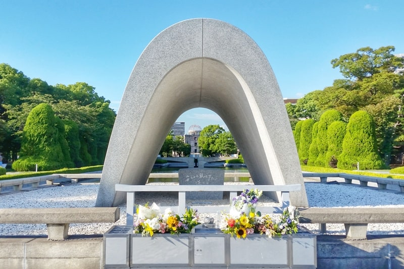 Visit to Hiroshima Peace Memorial Park. Backpacking Japan.