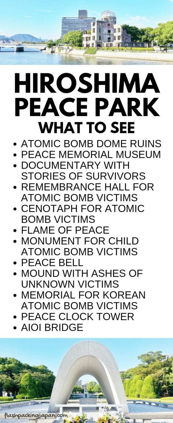 Visit Hiroshima peace memorial park. What to see in Hiroshima. Backpacking Japan