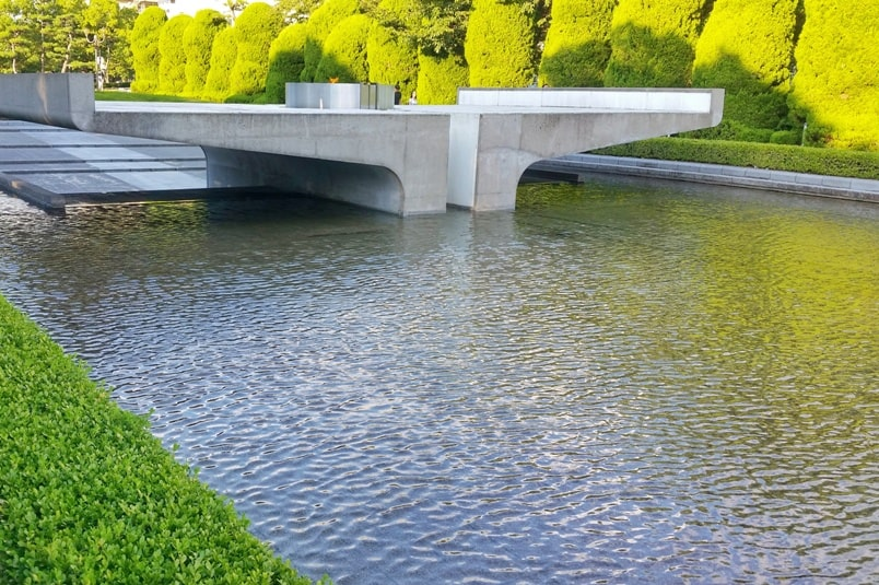 Things to do in Hiroshima peace memorial park visit. Flame of peace. Backpacking Japan.