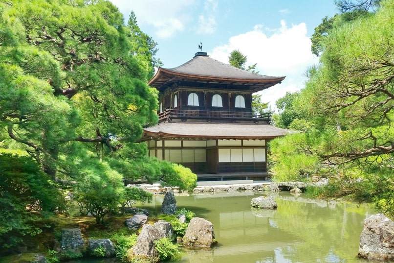 Best UNESCO world heritage sites to visit in Kyoto. Ryoanji Temple. Ginkakuji Temple. Silver pavilion. Backpacking Japan