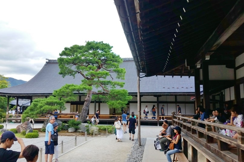 Best UNESCO world heritage sites to visit in Kyoto. Tenryuji Temple. Backpacking Japan