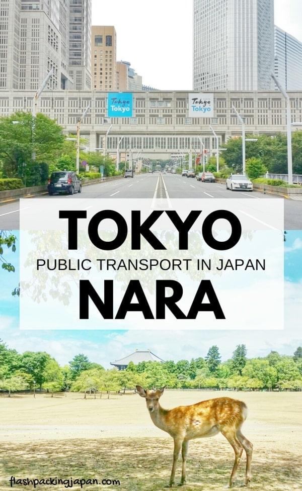 Tokyo to Nara shinkansen bullet train with JR pass. Public transportation and train travel. Backpacking Japan