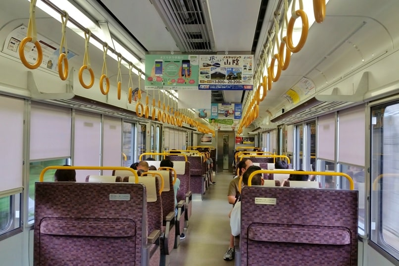 Hozukyo jr station to sagano scenic railway romantic train. One day in Arashiyama and Sagano. Backpacking Kyoto Japan