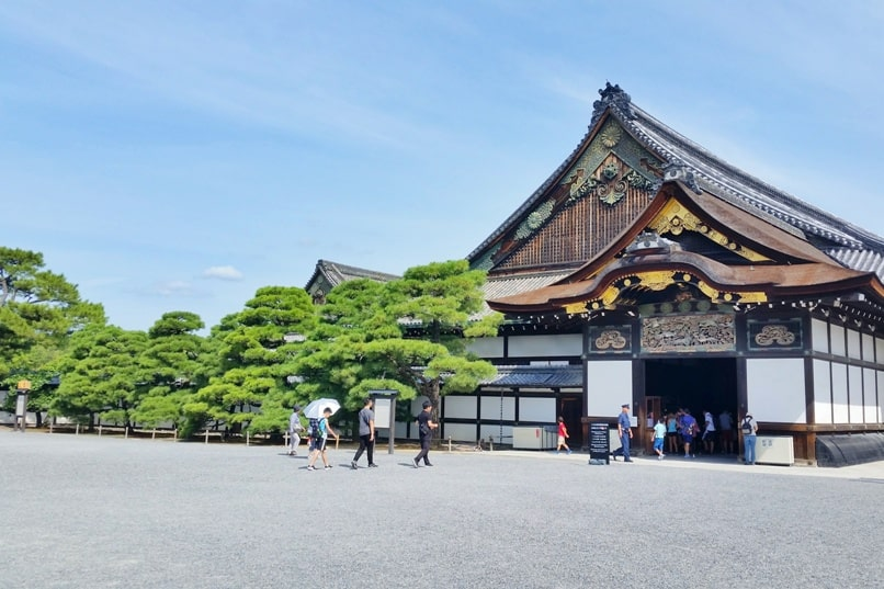JR bus in Kyoto with JR pass: Route - Nijo castle. Backpacking Japan