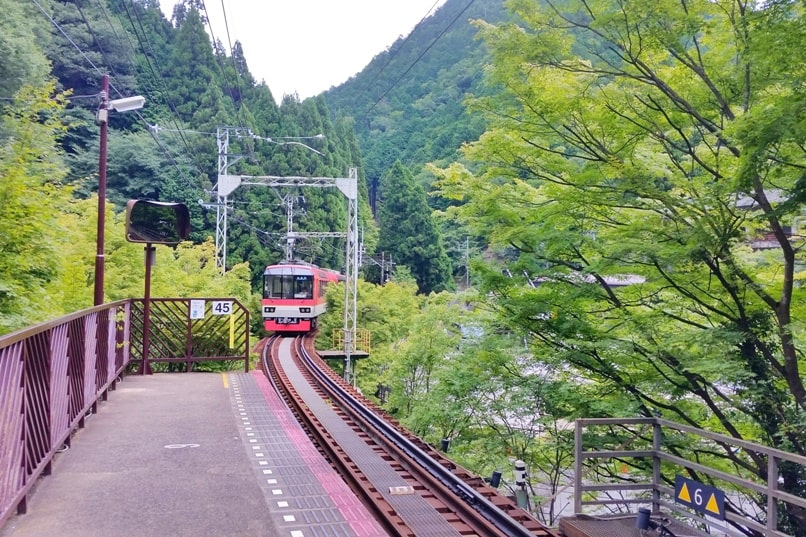 Kurama Kibune Ohara: Kibune to Ohara train. Backpacking Kyoto Japan