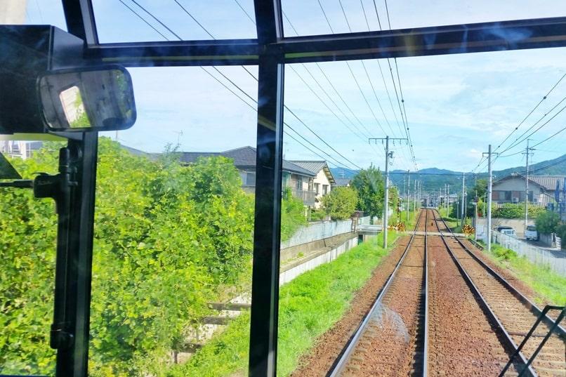 Kurama Kibune Ohara: Kyoto to Kurama train. Backpacking Kyoto Japan