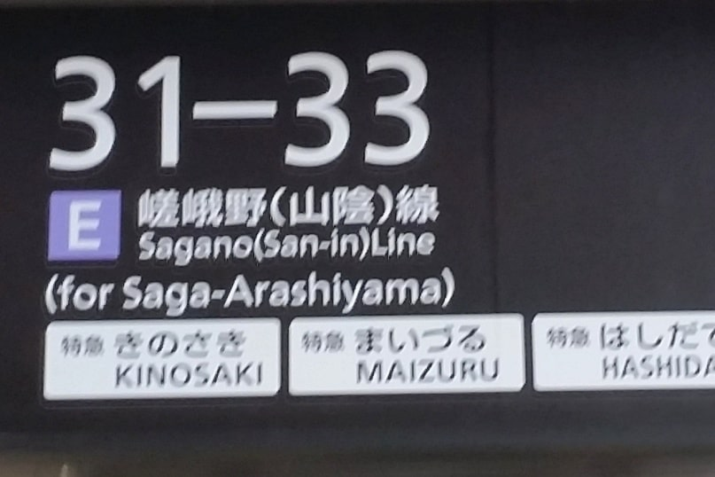 Kyoto station to Saga-Arashiyama train with JR pass. One day in Arashiyama Sagano. Backpacking Kyoto Japan