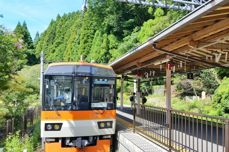 Kyoto to Kurama train. How to get to Kurama. Backpacking Kyoto Japan