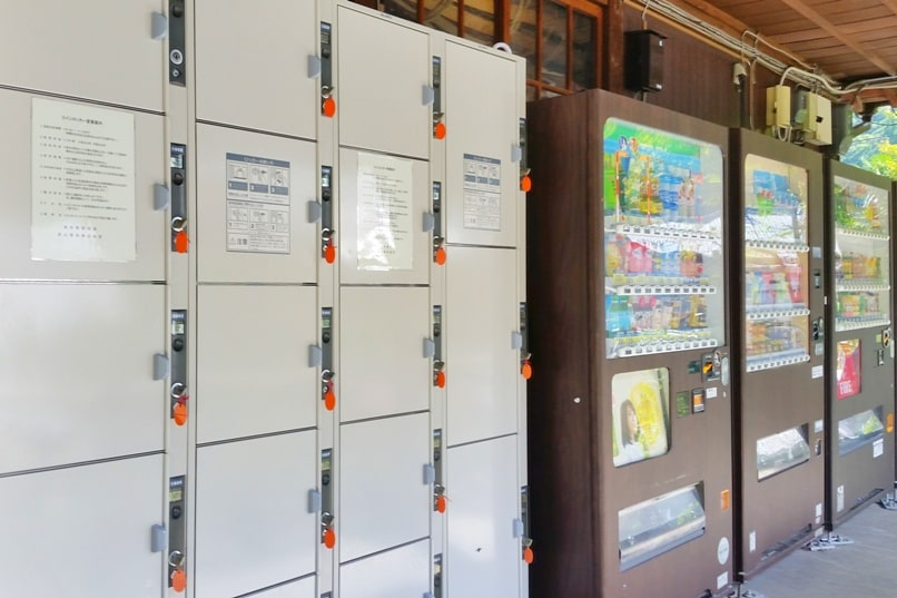 Kyoto to Kurama train station. Coin lockers for luggage. Backpacking Kyoto Japan