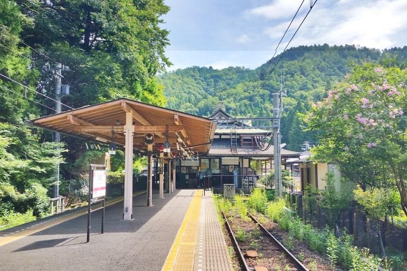 Kyoto to Kurama train station. Backpacking Kyoto Japan