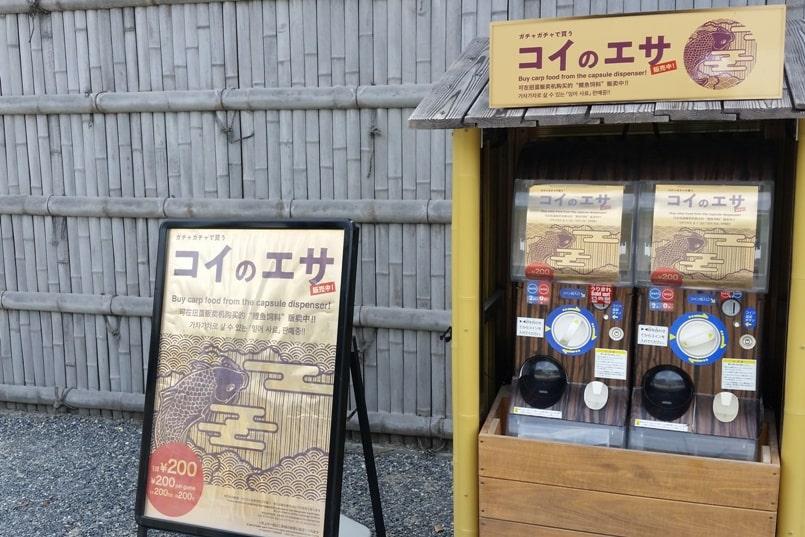Visit to Nijo Castle. Buy carp food. Backpacking Kyoto Japan