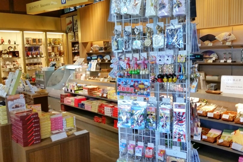 Visit to Nijo Castle. Gift shop for Japan souvenirs. Backpacking Kyoto Japan