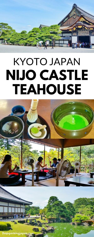 Nijo Castle Teahouse, Kyoto. Backpacking Kyoto Japan