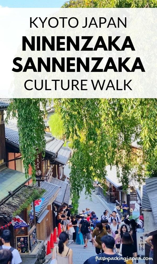 Ninenzaka and Sannenzaka, Kyoto. Culture walk on slopes to Kiyomizudera Temple. Backpacking Kyoto Japan travel blog
