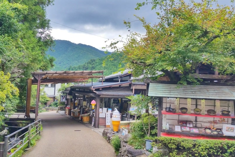 Ohara village culture walk. restaurant and food. Day trip from Kyoto. Backpacking Japan