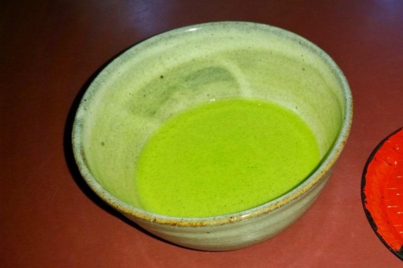 Okochi sanso villa garden teahouse visit. Matcha green tea. One day in Arashiyama and Sagano. Backpacking Kyoto Japan