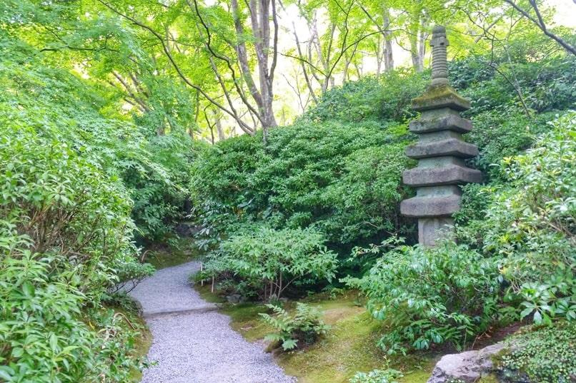 Okochi sanso teahouse with visit to villa Japanese gardens - walking path. One day in Arashiyama and Sagano. Backpacking Kyoto Japan