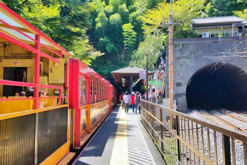 Okochi sanso villa garden. Arashiyama sagano scenic railway aka romantic train. Arashiyama torokko station to Okochi sanso. One day in Arashiyama and Sagano. Backpacking Kyoto Japan