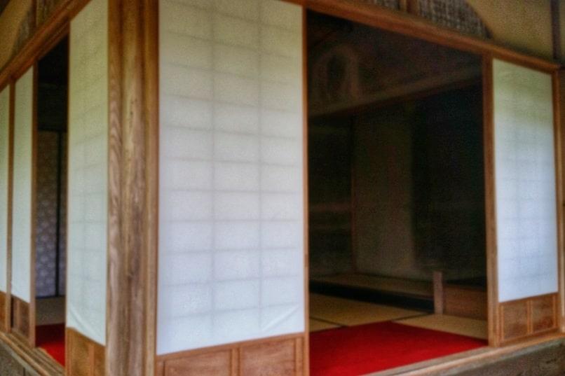Okochi sanso villa gardens house interior. One day in Arashiyama Sagano. Backpacking Kyoto Japan