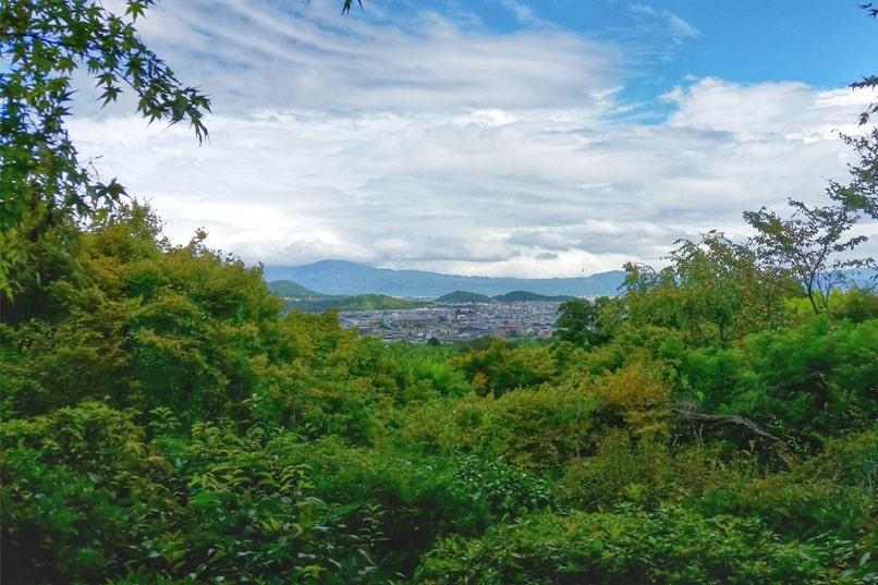 Okochi sanso villa gardens - Kyoto city views and mountain views. One day in Arashiyama Sagano. Backpacking Kyoto Japan