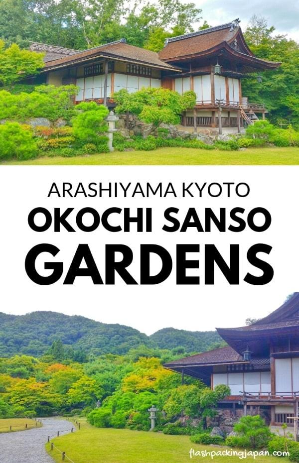 Okochi sanso villa gardens in Arashiyama - Japanese gardens in Kyoto. One day in Arashiyama Sagano. Backpacking Kyoto Japan travel blog