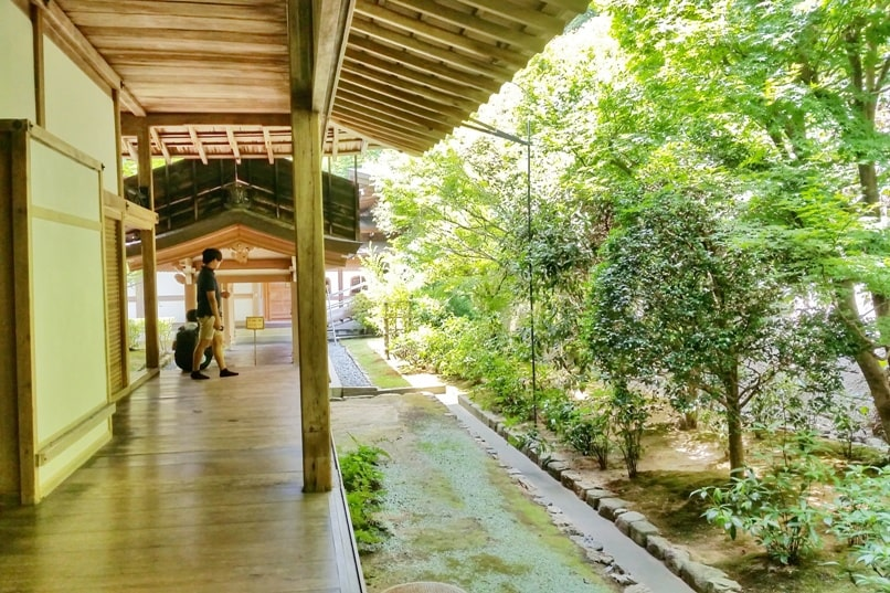 One day in Kyoto with bus pass: Visit to Ryoanji temple - zen temple. Backpacking Kyoto Japan