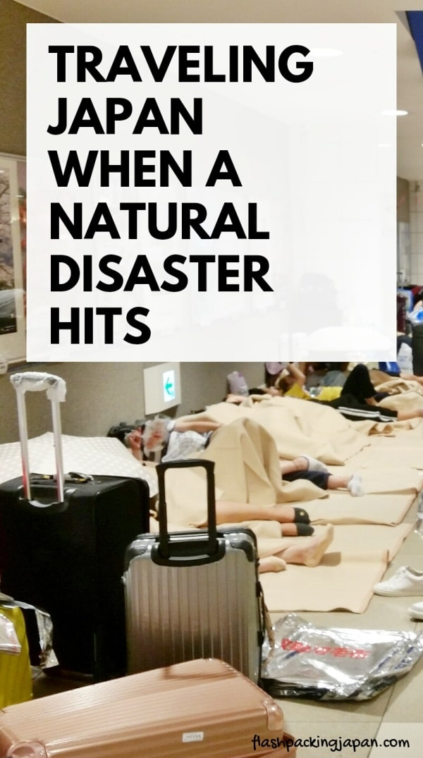 Travel insurance for Japan: Are natural disasters covered when traveling Japan first time trip? Typhoons, earthquakes. Backpacking Japan Asia