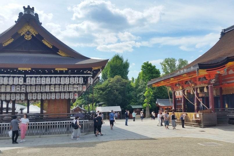 Yasaka Shrine, Gion Kyoto. Lanterns. Backpacking Kyoto Japan travel tips