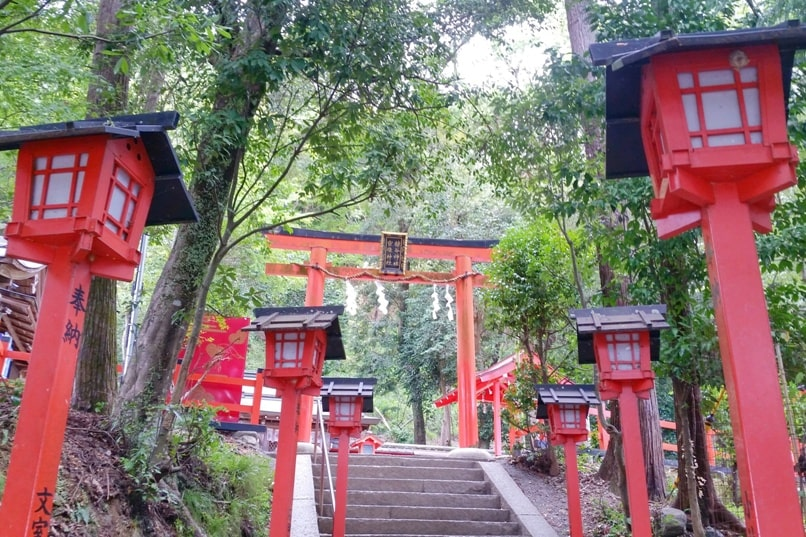 Arashiyama monkey park entry. torii gate. One day in Arashiyama and Sagano. Backpacking Japan