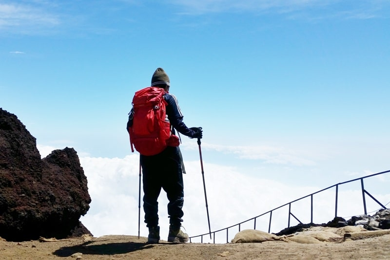 Planning for a first trip to Japan travel tips: Best things to do in Japan - climbing Mt Fuji hiking trail summit. First time in Japan. Backpacking Asia