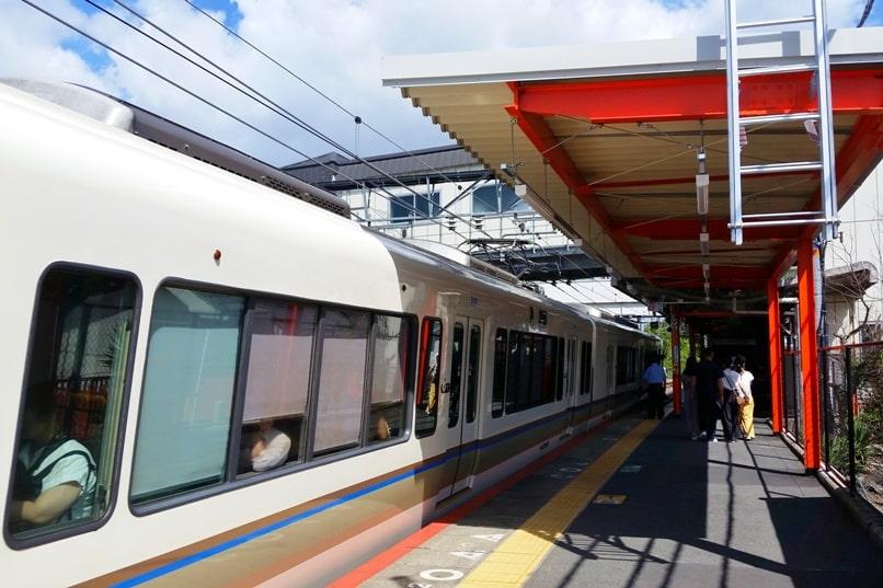 How to get to Fushimi inari shrine: Kyoto station to fushimi inari with JR pass - inari jr train station. Backpacking Kyoto Japan