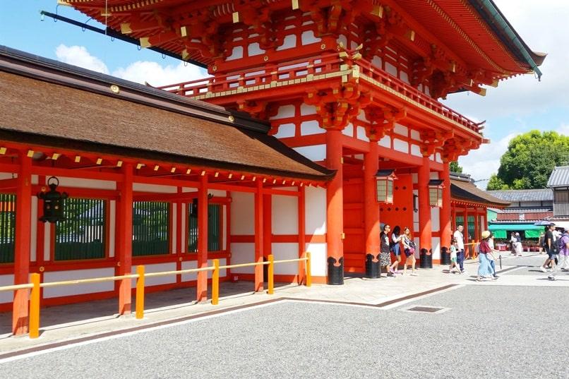 Fushimi inari taisha shrine visit near entry grounds. Backpacking Kyoto Japan