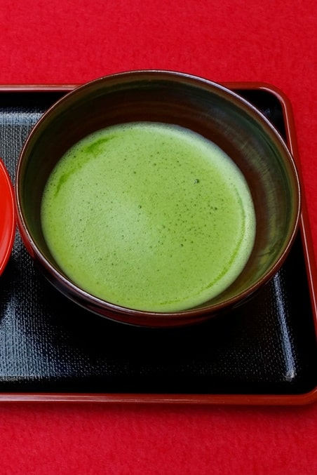 Ginkakuji temple tea garden and tea room for matcha green tea experience - matcha. Backpacking Kyoto Japan