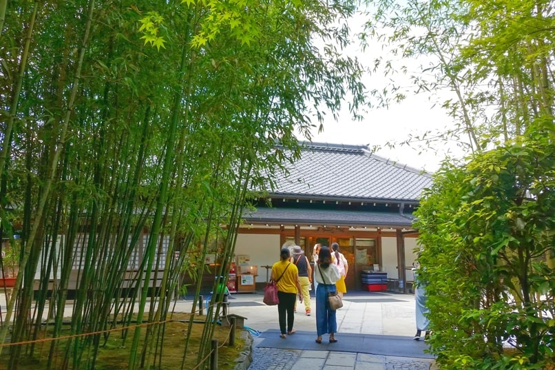 Visit to Ginkakuji Temple tea room for teahouse or tea garden setting. Backpacking Kyoto Japan