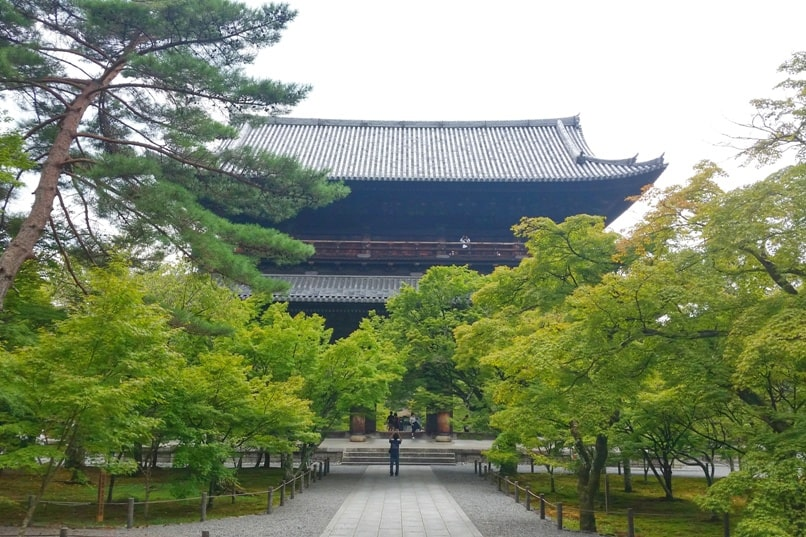Ginkakuji Temple to nanzen-in temple on philosopher's path. Backpacking Kyoto Japan