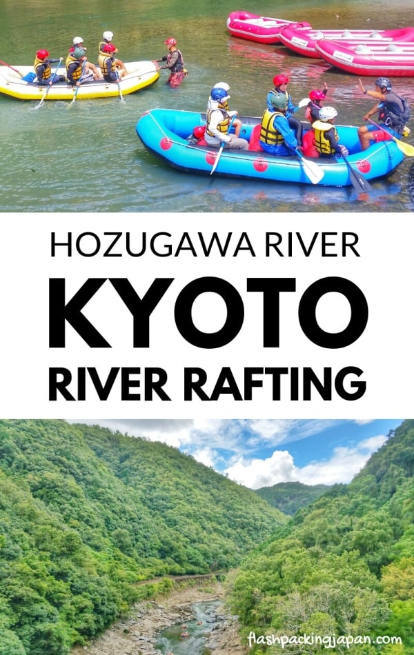 Hozugawa river rafting tour in Arashiyama Kyoto. white water rafting. Backpacking Japan travel blog