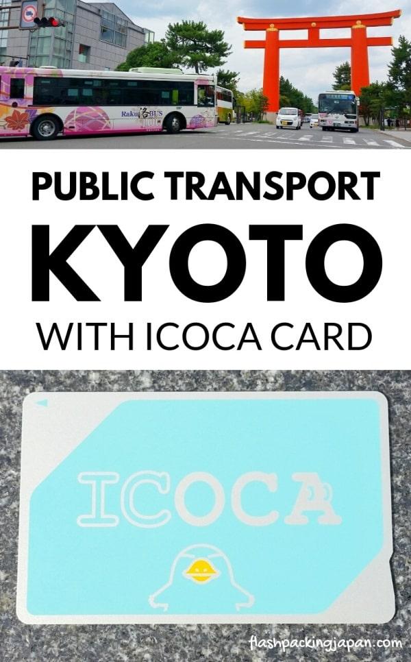 ICOCA card in Kyoto, Osaka, Nara, Hiroshima, Tokyo. Bus, train, subway, public transportation in Kyoto. Backpacking Japan travel blog.