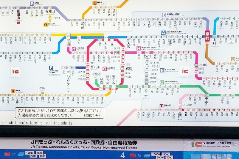 ICOCA card in Kyoto, Osaka, and Tokyo. How to buy train tickets - how much does it cost. Backpacking Japan