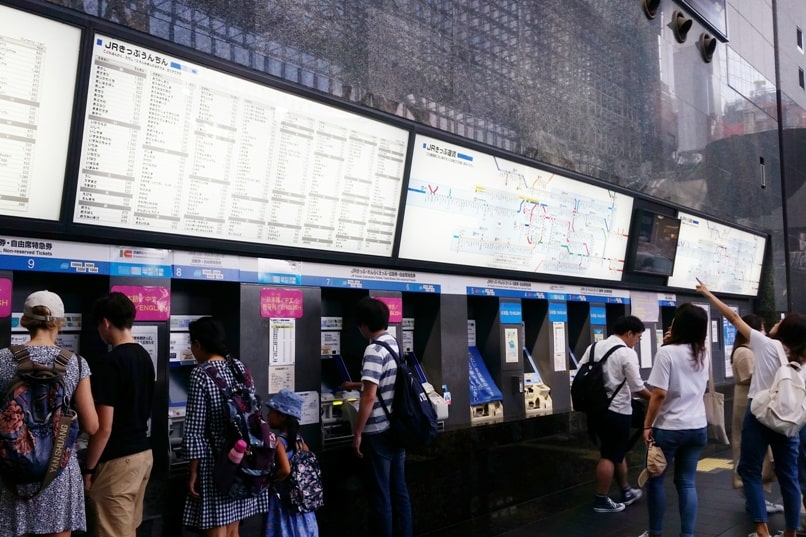 ICOCA card in Kyoto, Osaka, and Tokyo. Where to buy icoca card in Kyoto, train tickets at kyoto station. Backpacking Japan