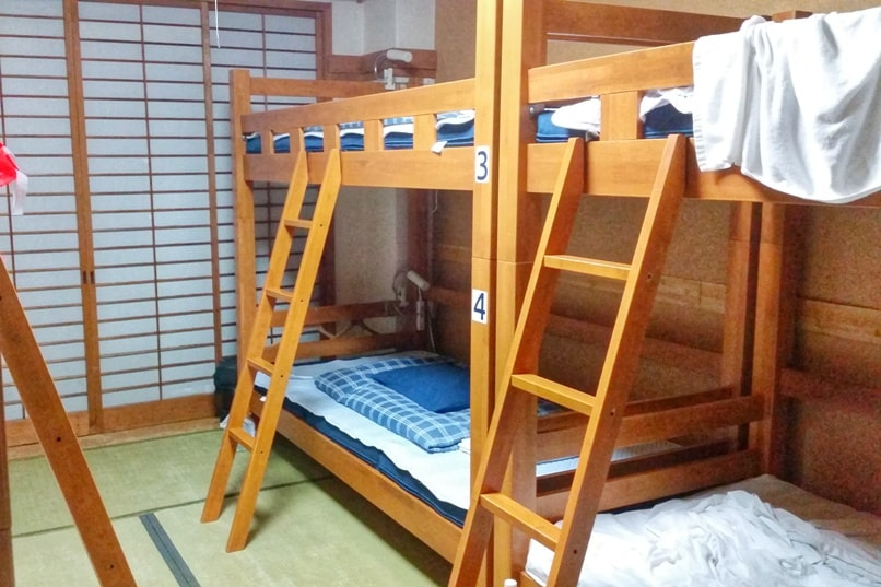 K's house hostels in Japan with dorm beds - mixed and female only. Backpacking Japan on a budget for solo travelers and backpackers, cheap accommodation.