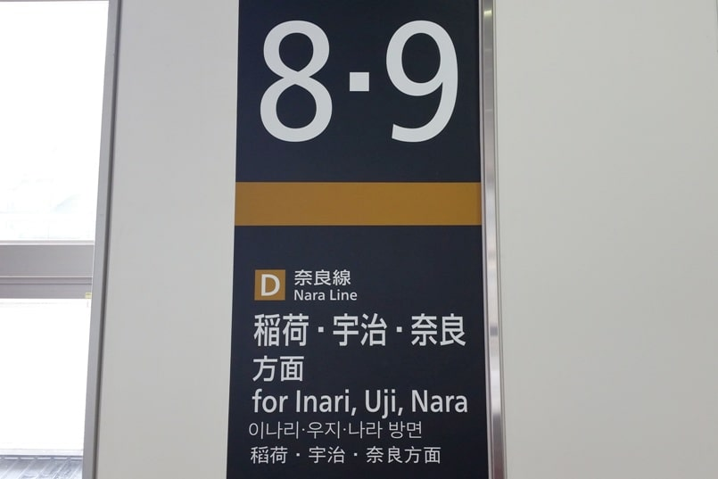 Kyoto station to Fushimi inari train to Inari, to Nara, to Uji - JR train station. Backpacking Kyoto Japan