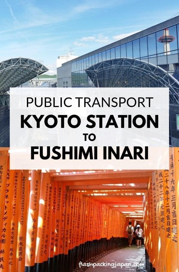 Kyoto station to Fushimi inari train, public transportation. How to get to Fushimi inari shrine. Backpacking Kyoto Japan travel blog