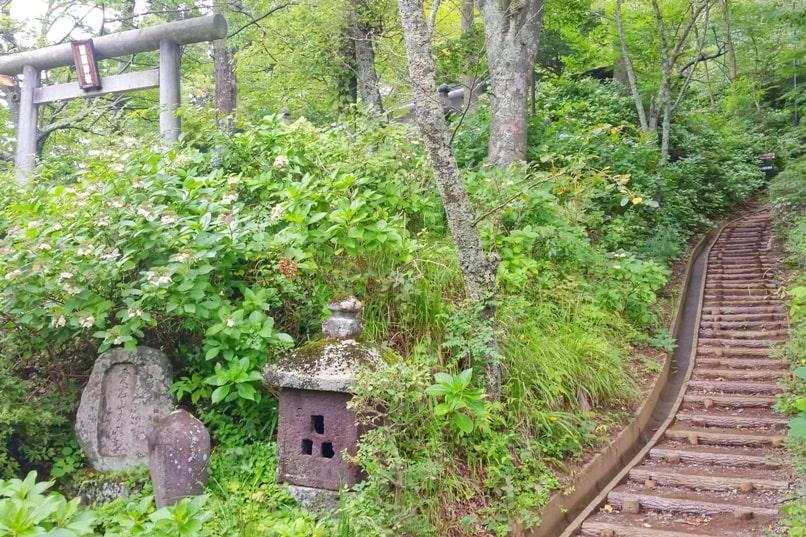 Mount Tenjo hike. Start hiking trail! Kawaguchiko, Fuji Five Lakes. Best hiking trails in Japan. Backpacking Japan