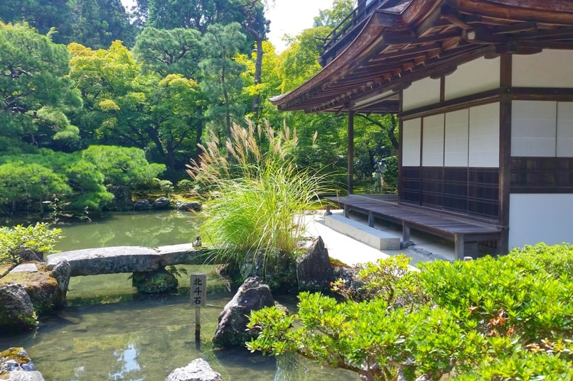 Philosopher's path walk - Ginkakuji Temple visit - japanese gardens around silver pavilion. Backpacking Kyoto Japan