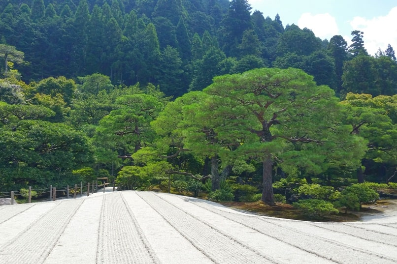 Philosopher's path walk - Ginkakuji Temple visit - sand garden and japanese gardens. Backpacking Kyoto Japan
