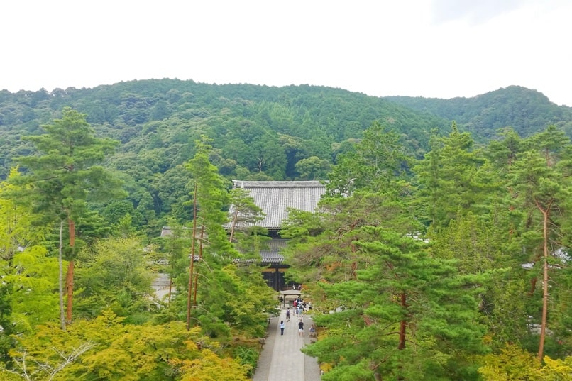 Philosopher's path walk - Nanzenji Temple visit - climb up to top for views. Backpacking Kyoto Japan